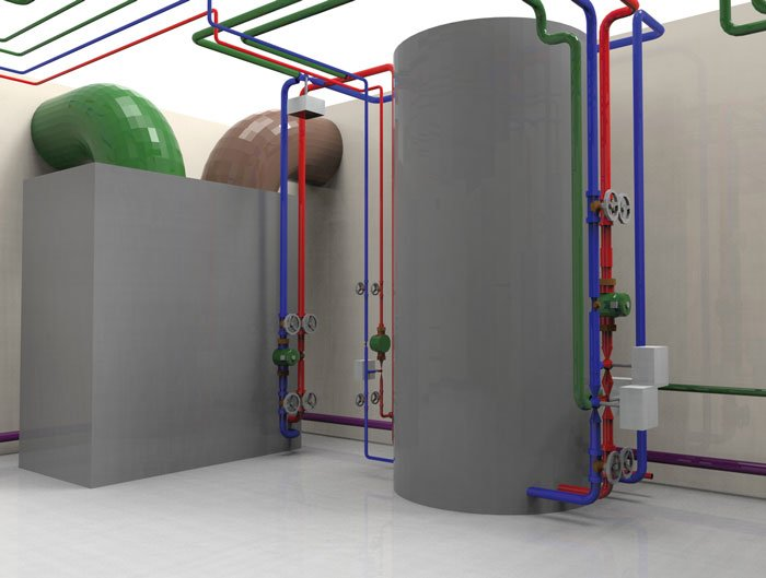 dds cad moduly modul sanitarno grzewczy wizualizacja